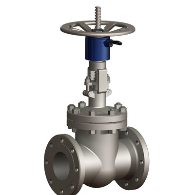 Flanged Ends Gate Valve, ASTM A216 WCB, 6IN, CL300, Trim 8