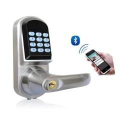 Bluetooth Door Lock, Zinc Alloy with Chrome Plating, 154 X 68 X 78mm