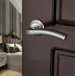 Zinc Alloy Door Handle, Surface Installation, 50mm, Electroplating