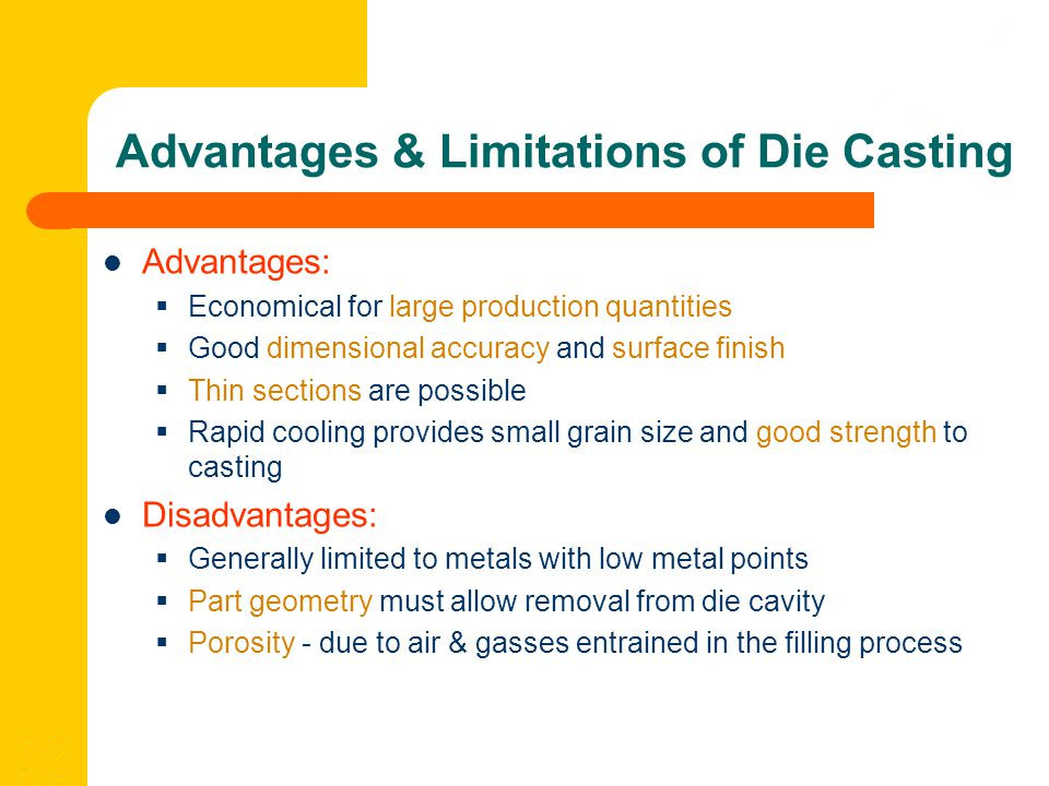 The Advantages and Disadvantages of Die Casting