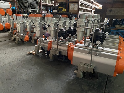 Export Excellent Quality of Pneumatic Actuators to SA (South Africa).
