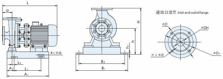 ISW Horizontal Single-stage Single Suction Centrifugal Pump Structure