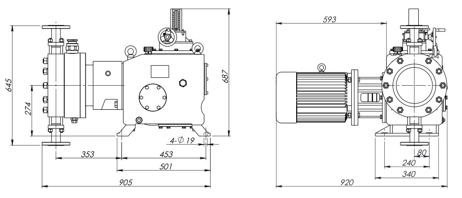 hydraulic-diaphragm-metering-pump-90-5880lph-16-400bar-installation-drawing