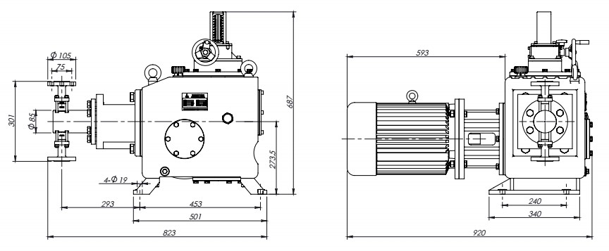 plunger-chemical-pump-high-pressure-6050lph-installation-drawing