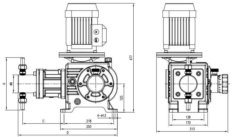 plunger-metering-pump-6lph-720lph-6bar-400bar-0-75kw-drawing