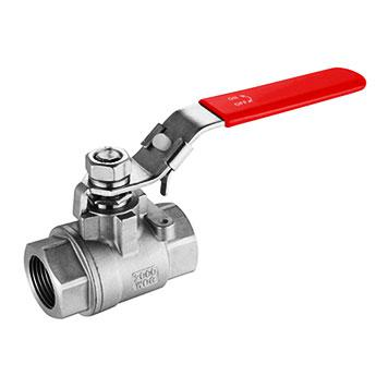 2000 PSI Two-Piece PTFE/RPTFE/PPL Seat Cast Floating Ball Valve
