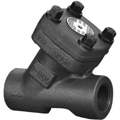 Forged steel Y Type Check Valve, Class 150/300/600/800