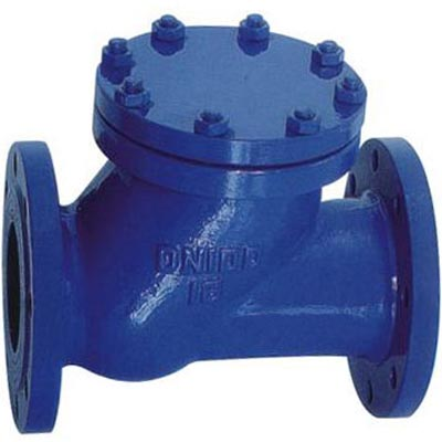 HQ41X Y Type Ball Check Valve, Cast iron, Ductile iron, WCB