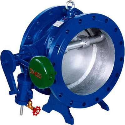 Tilting Disc Check Valve with Counterweight Arm & Cylinder, Cast iron, Ductile iron, WCB
