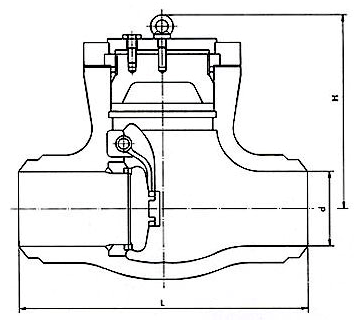 Power Station Pressure Seal Swing Check Valve Structure