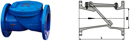 SFCV Rubber Flapper Swing Check Valve Structure