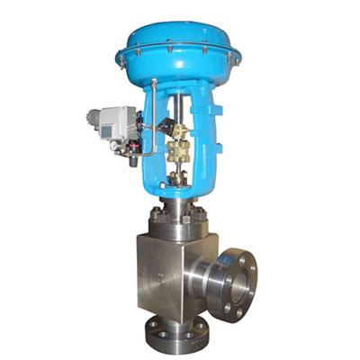 ZMAS Pneumatic Angle Type High Pressure Regulating Valve, Class 150-1500 LB
