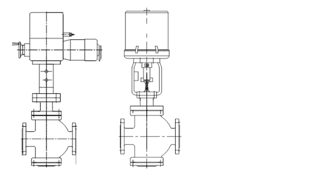 ZAZN Electric Double Seat Control Valve Structure
