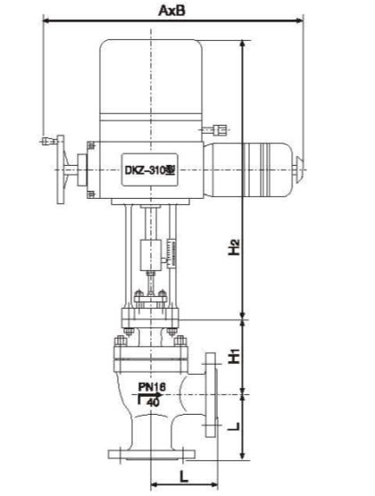 zazs electric angle type high pressure regulating valve