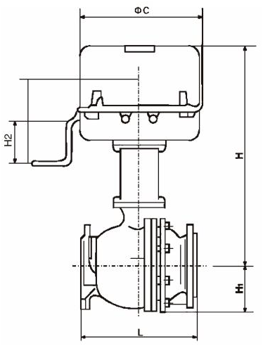 ZDRO Electric shut-off ball valve figure