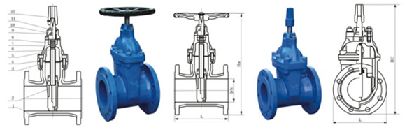 Non Rising Stem Resilient Seated Gate Valves Structure