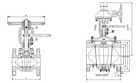 Metal Seated Lift Plug Valve Dimensions