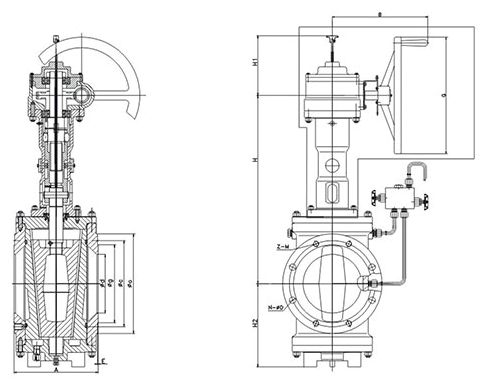 dimension-of-short-pattern-orbit-plug-valve-with-gear