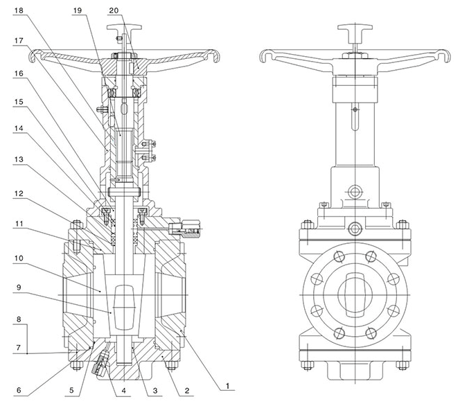 Structure of Short Pattern Orbit Plug Valve With Handle Wheel