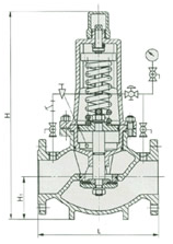 Combined type reducing valve Constructral Structure