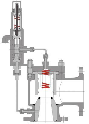 A46Y Pilot Operated Safety Valve (POSV), WCB, CF8, CF8M