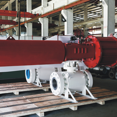 API 6D Trunnion Mounted Ball Valve, Pneumatic Actuator, CL900