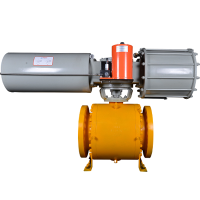 Pneumatic Actuated Trunnion Ball Valve, A182 LF2, 12IN CL150 RF