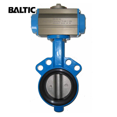 MSS SP-67 Butterfly Valve, Pneumatic, DI, 8IN, CL125, Wafer