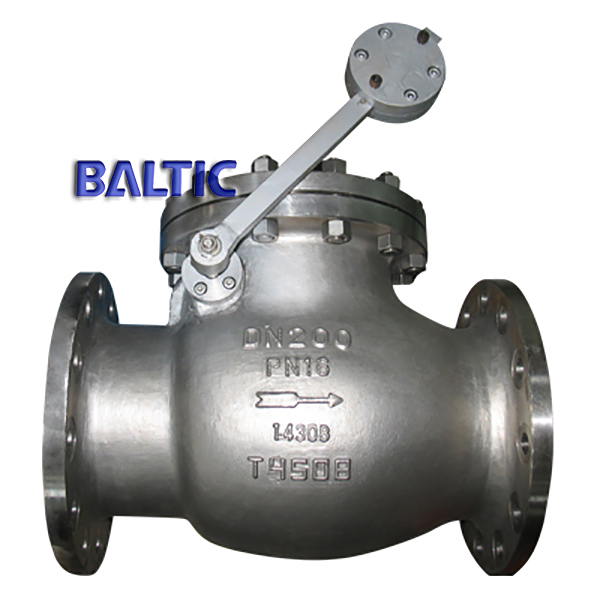 Swing Check Valve, Lever Counter Weight, 1.4308, DN200 PN16, RF