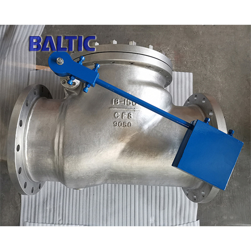 DIN 3352 Cryogenic Swing Check Valve, ASTM A351 CF3M, 18IN
