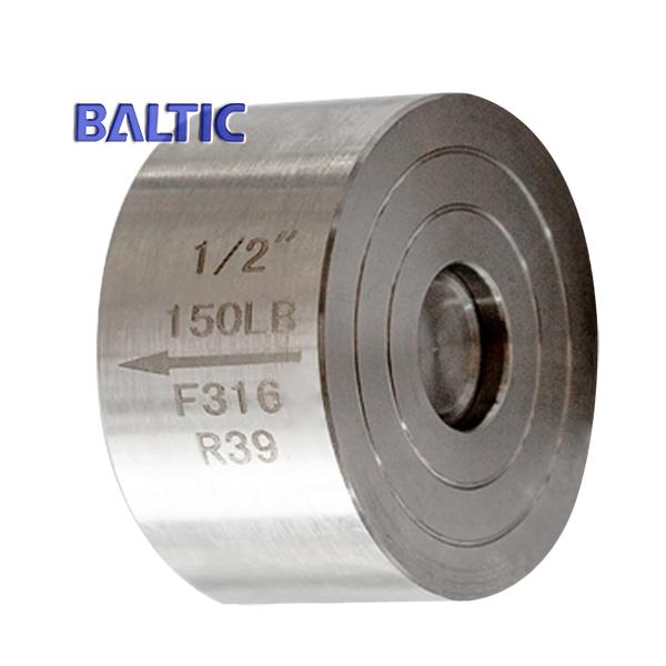 ASTM A182 F316 Wafer Check Valve, 1/2 Inch, 150 LB, API 602, RF