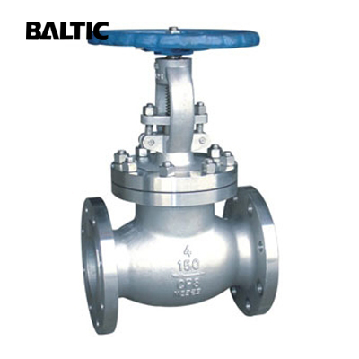 ASTM A351 CF8 Globe Valve, 4IN, CL150, ASME B16.34, BS 1873, RF