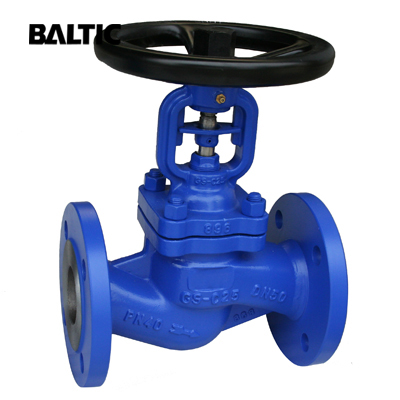 DIN 3356 Bellow Sealed Globe Valve, GS-C25, DN50, PN40, RF