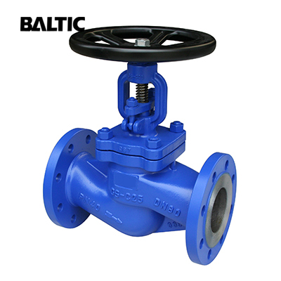 DIN 3356 Globe Valve, GS–C25, DN80, PN40, RF Flanged Ends