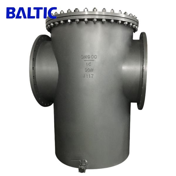 20# Steel Basket Type Strainer, DN900, PN16, RF, ASME B16.34