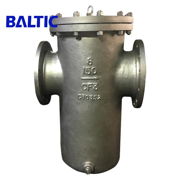 ASTM A351 CF3 Basket Strainer 8 Inch 150 LB, RF Flange, ASME B16.34