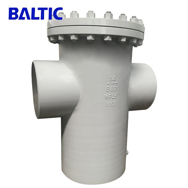 ASTM A420 WPL6 Basket Strainer, 14 Inch 300 LB, RF, ASME B16.34