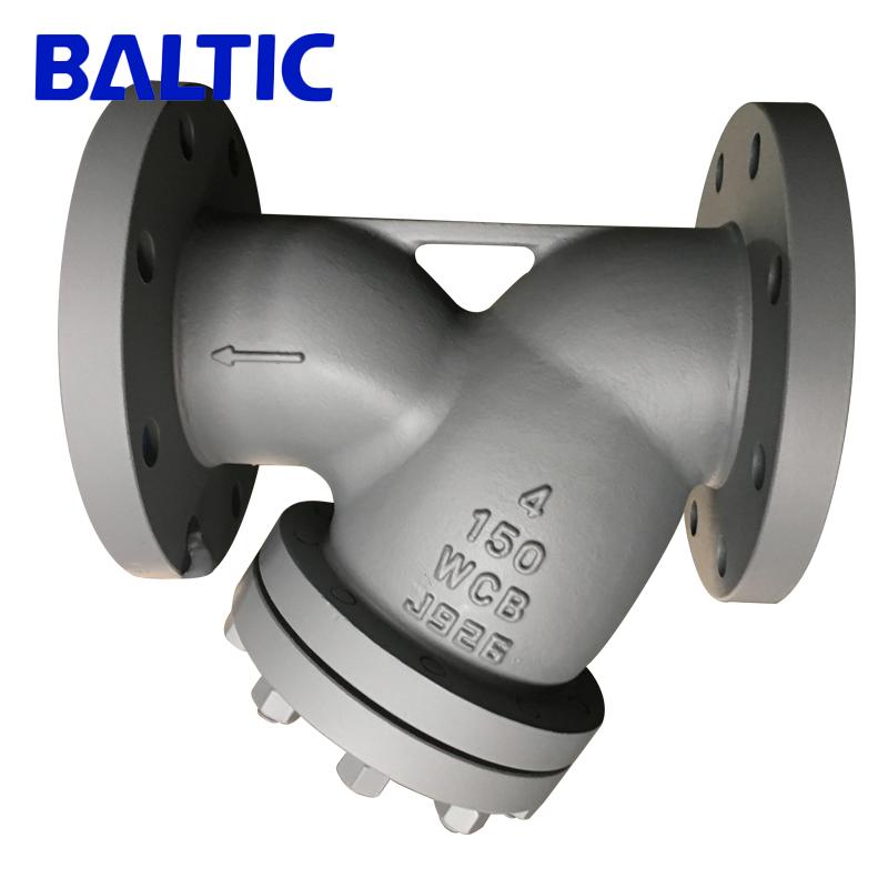 ASME B16.34 Y Strainer, ASTM A216 WCB, 4 Inch, 150 LB, RF Flanged