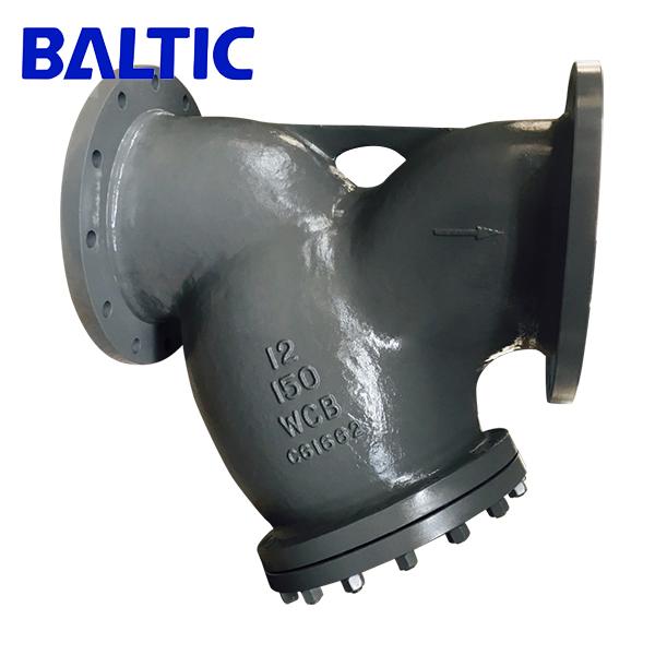 Y Style Strainer, ASTM A216 WCB, 12 Inch, 150 LB, ASME B16.34, RF