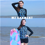 Germany style long sleeve women's rash guard for sale