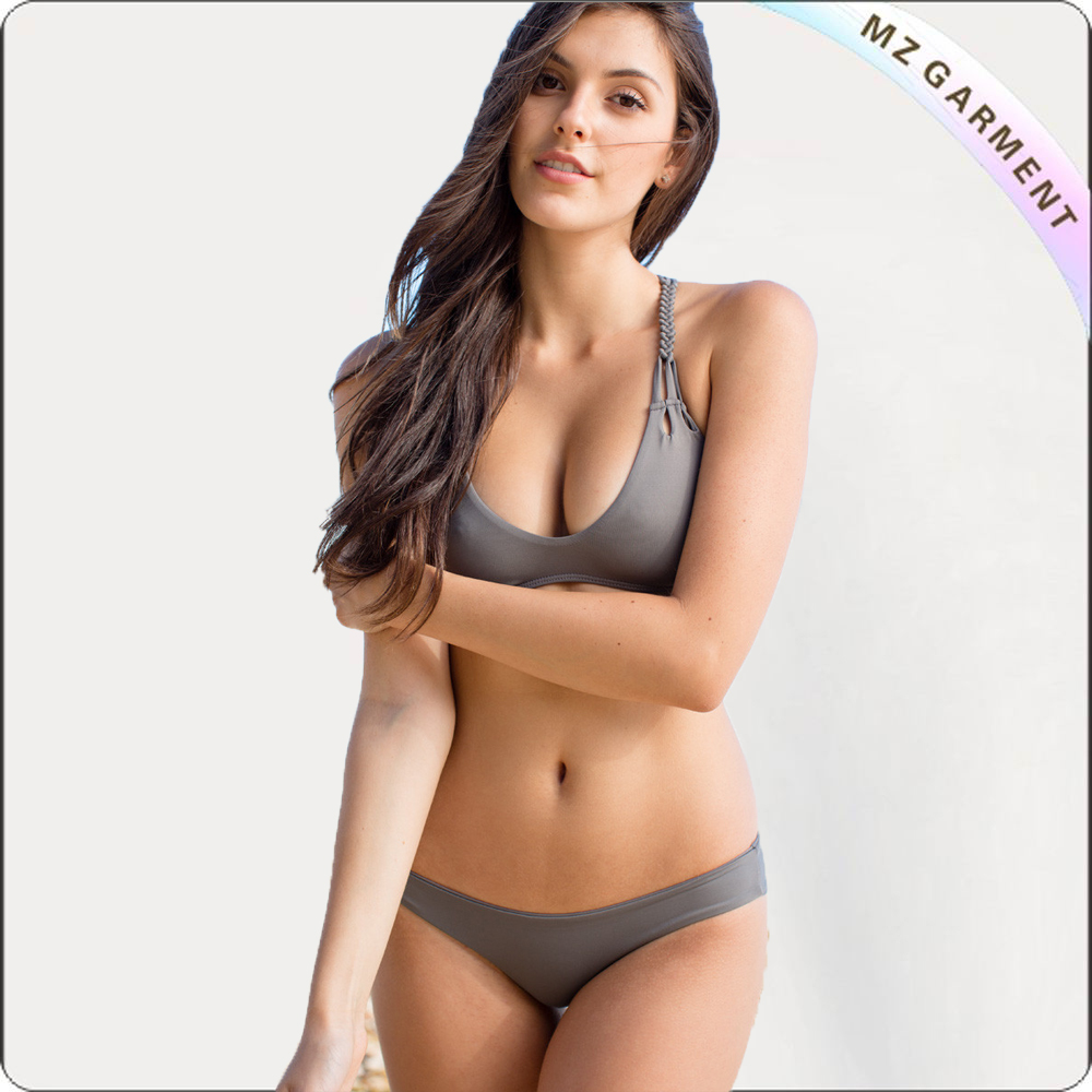Adult Two Piece Ash Grey Swimsuit