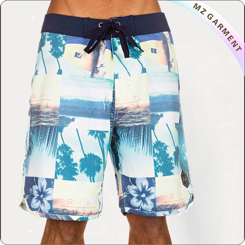 Adult Plaid Beach Short Pants