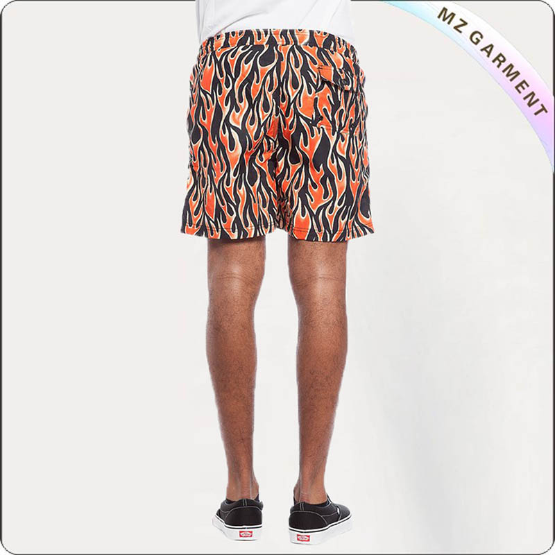 Men Abstract Pattern Swim Trunks