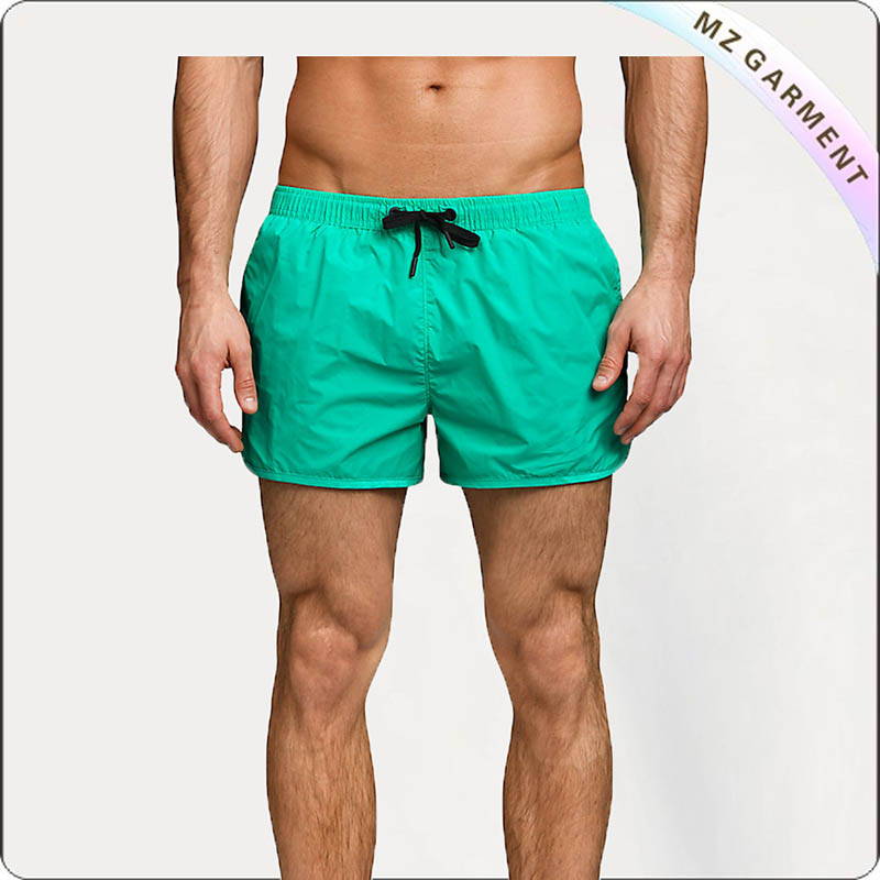 Men Asparagus Green Swim Trunks