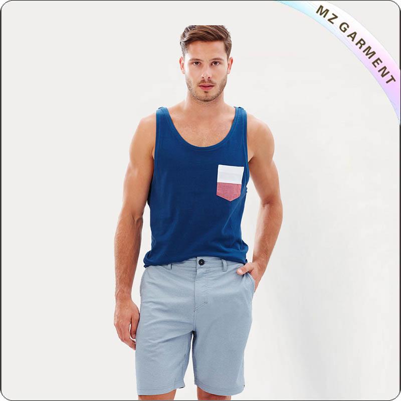 Men Bluish Beach Shorts