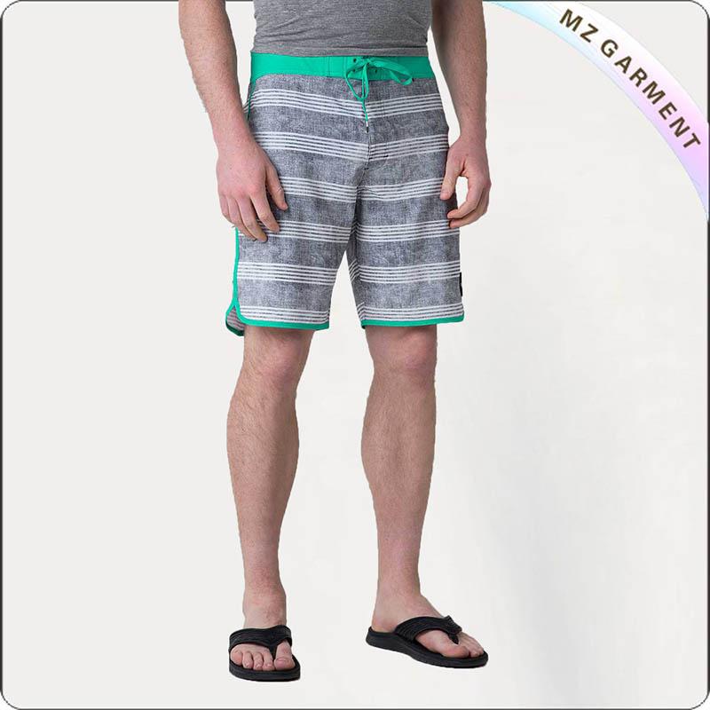 Men Green Edge Board Shorts