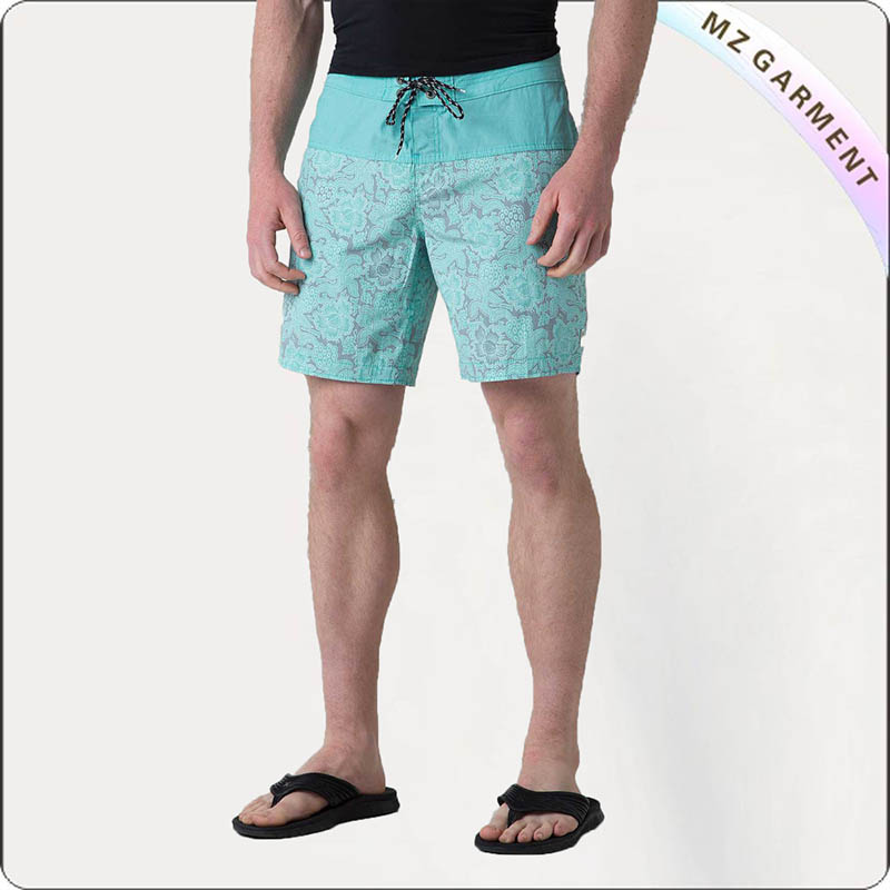 Men Green Mint Bathing Trunks