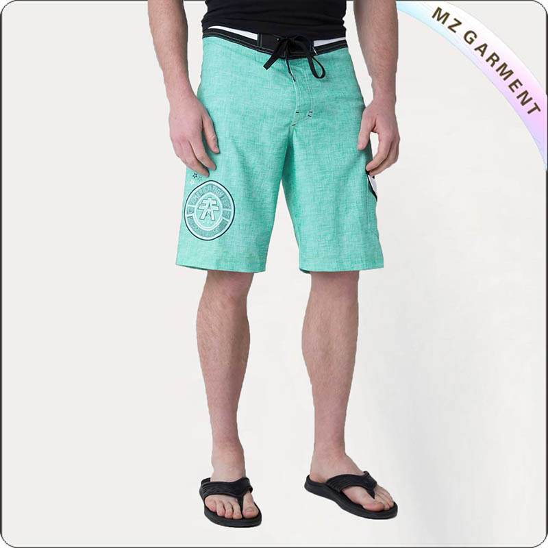 Men Green Mint Surf Trunks