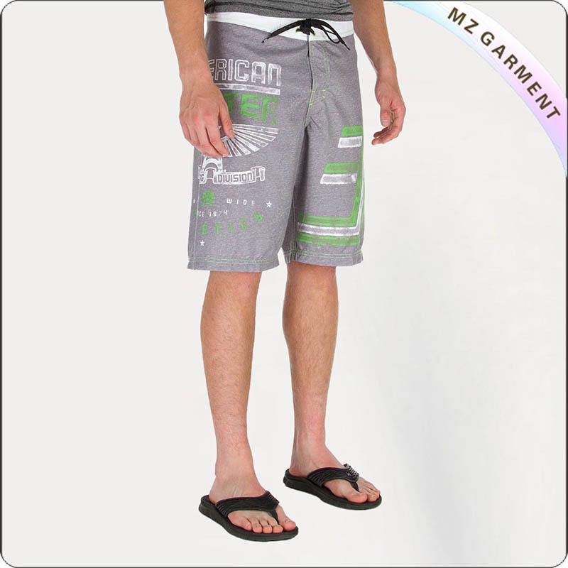 Men Grey Board Shorts