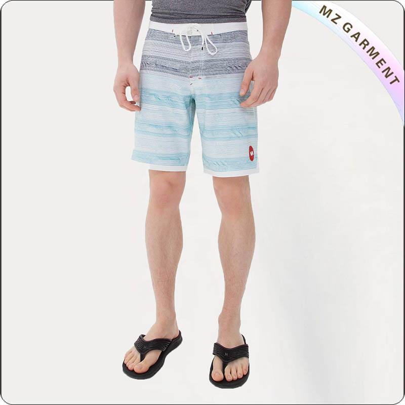 Men Group Stripe Board Shorts
